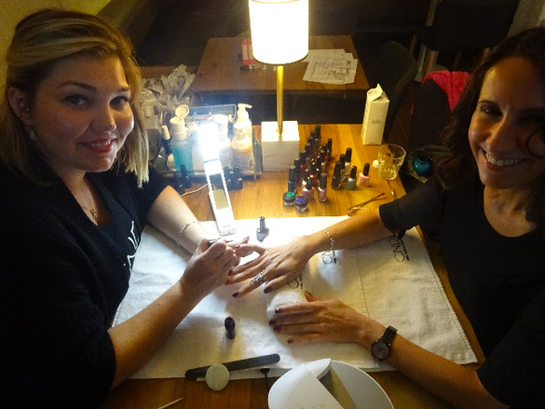 Liliya and I discussed everything from the Vegetarian Food Fest to celebrities at TIFF as she gave me a manicure.