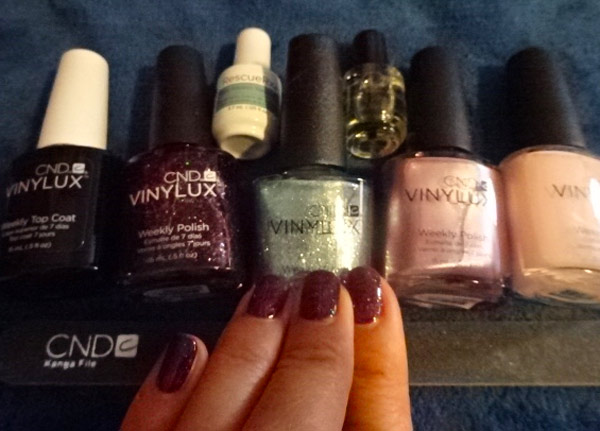 I took home Vinylux in Nordic Lights, Winter Glow, Glacial Mist and Tundra, which will work gorgeously with my fall and holiday season wardrobe.