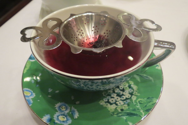 Mountain Berry Tea served at Nutcracker Afternoon Tea at King Edward Hotel