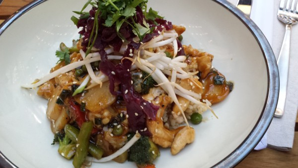 Teriyaki Chicken Rice Bowl at Cactus Club Cafe in Toronto