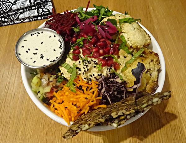Cauliflower Tahini at Kupfert & Kim's vegan restaurant in Toronto.