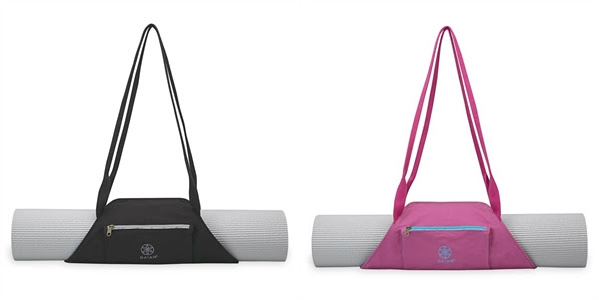 On-The-Go Mat Bags in Granite Stone and Fuchsia Sky from Gaiam