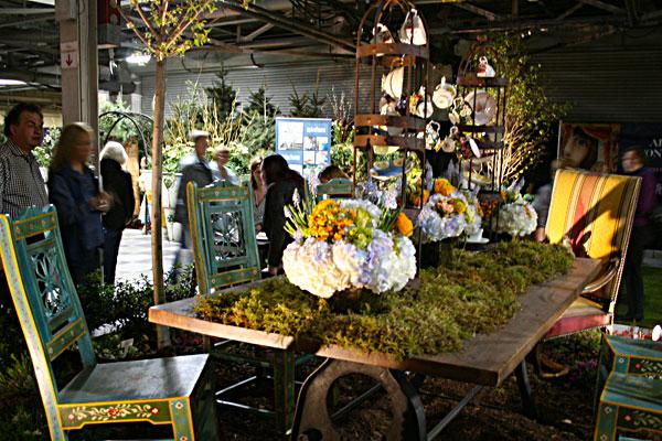 The Alice in Wonderland Wine Garden at Canada Blooms in Toronto