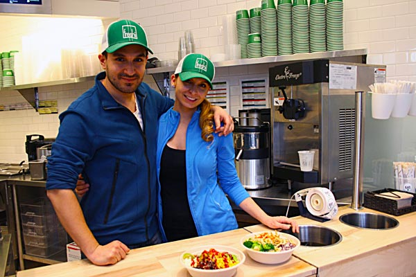 The service at Freshii Liberty Village is very friendly and quick.