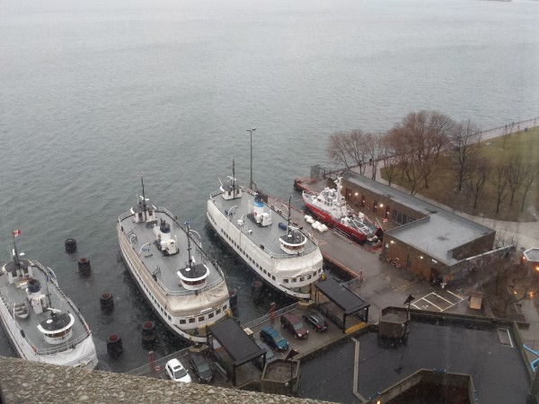 View of boats from Corner King Room at The Westin Harbour Castle