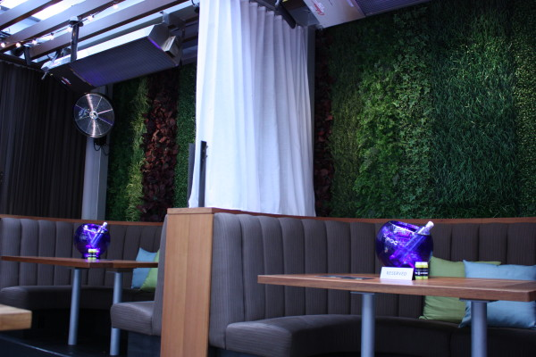 Private Booths at Cactus Club Cafe deck opening