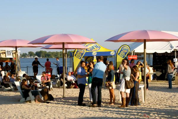 Toronto Wine and Spirit Festival at Sugar Beach