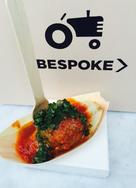 Bespoke Butchers meatball at The Stop's Night Market in Toronto