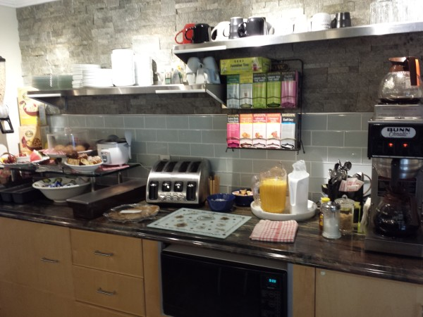 Self serve breakfast at Forest Motel, Stratford