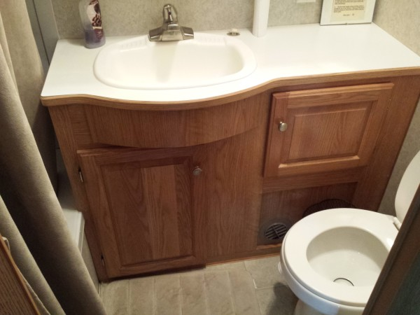 Bathroom in 39A RV at Sandbanks Beach Resort, Prince Edward County