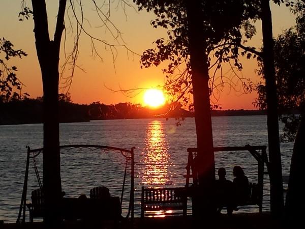 Sunset at Sandbanks Beach Resort on West Lake, Prince Edward County