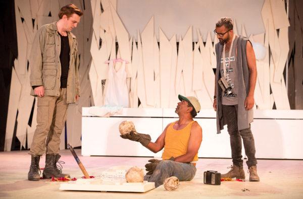 Frank Cox-O'Connell & Qasim Khan in Hamlet at Shakespeare in High Park - photo Cylla von Tiedemann