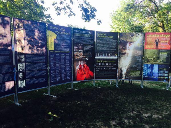 Info Panels for Shakespeare in High Park Toronto