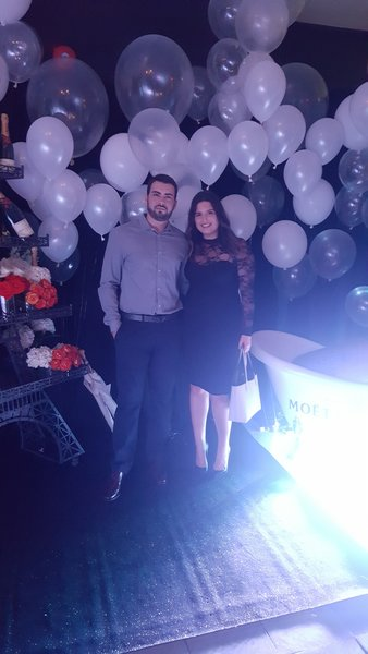 My partner and I at Maison Moet hosted by Moet & Chandon at TIFF 2016