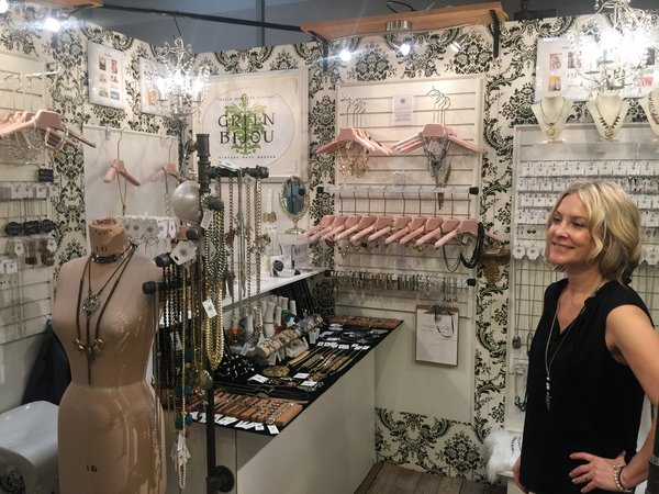 Jewellery designer Tricia McMaster of Green Bijou at Booth W04