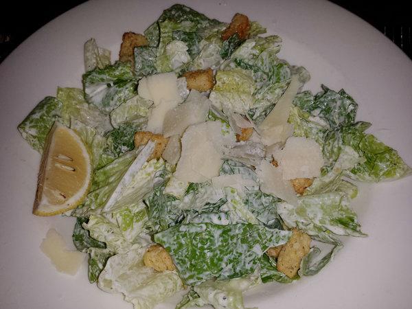 Caesar salad at the Keg Mansion in Toronto
