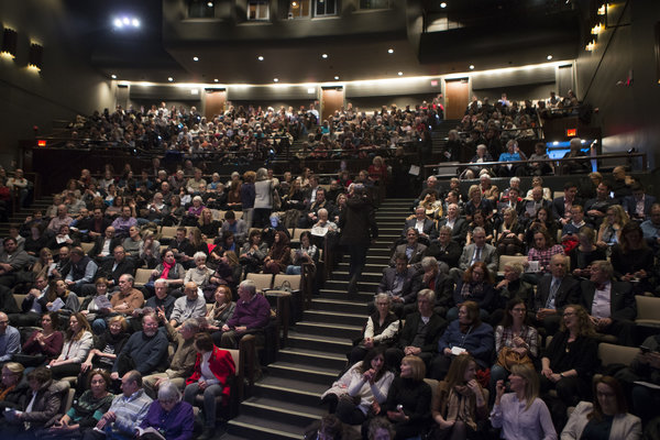 Audience at Politics & Democracy in America talk at St. Lawrence Centre for the Arts in Toronto on Feb. 15, 2017