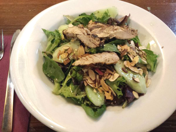 Mandarin Chicken Salad at The Irish Harp Pub