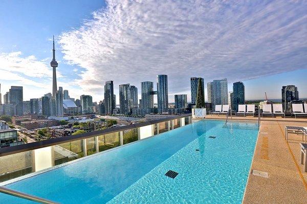 Outdoor swimming pool at Thompson Toronto