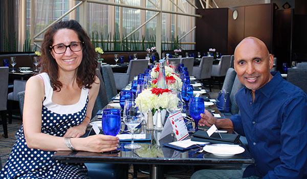 Diana and Jai at Summerlicious at Azure Restaurant