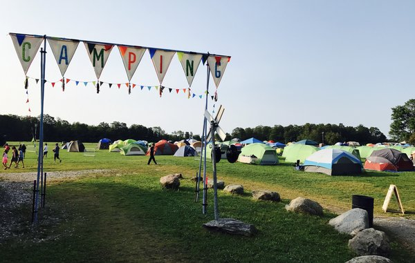 Camping grounds at The Big Feastival