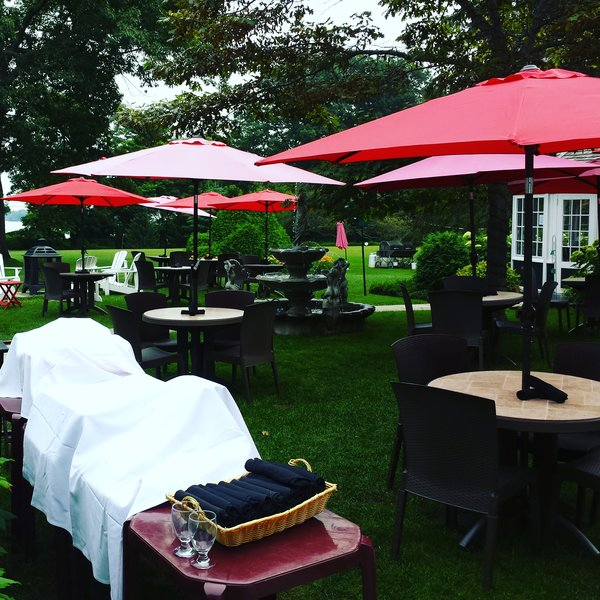 Fountain Court Patio at The Briars, Jackson's Point