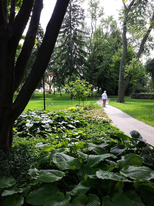 Lush lawns and century-old trees grace Rosetta McClain Gardens
