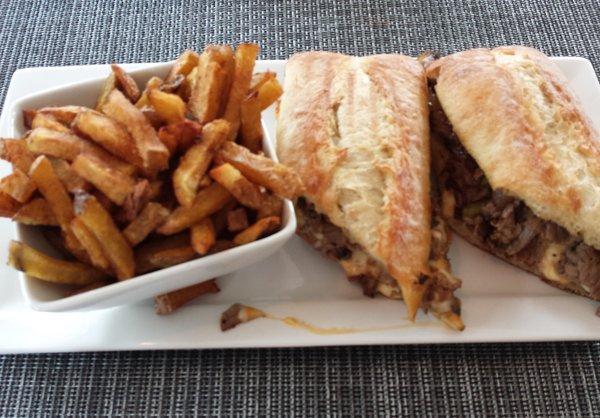 Simcoe Cheese Steak Sandwich at Lake Simcoe Arms