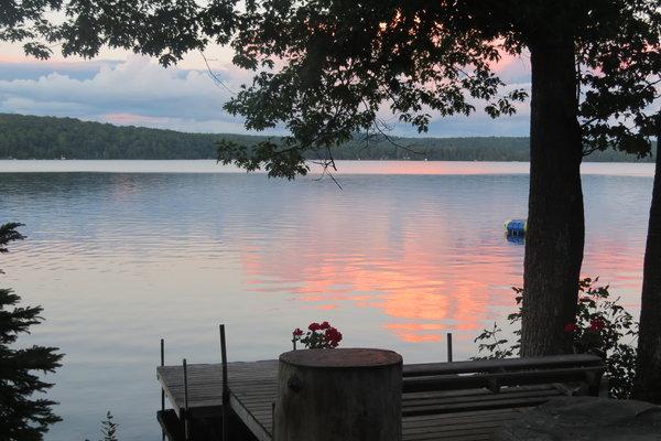 Sunset on Halls Lake, Ontario