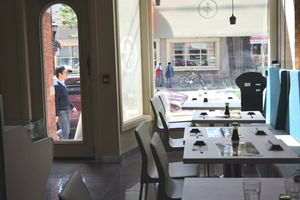 Interior of Kibo Sushi at 533 Parliament Street