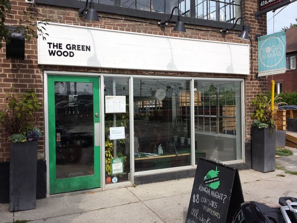 The Green Wood Restaurant at 1402 Queen St. E. in Toronto