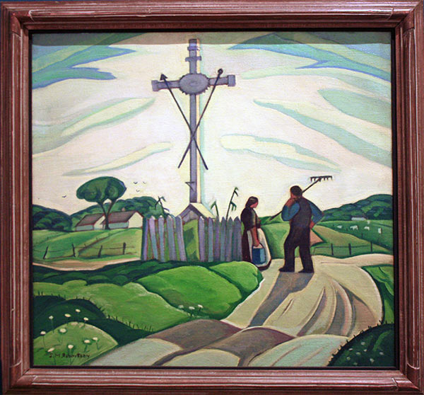 Traditional rural life of Quebec painting at the National Gallery of Canada