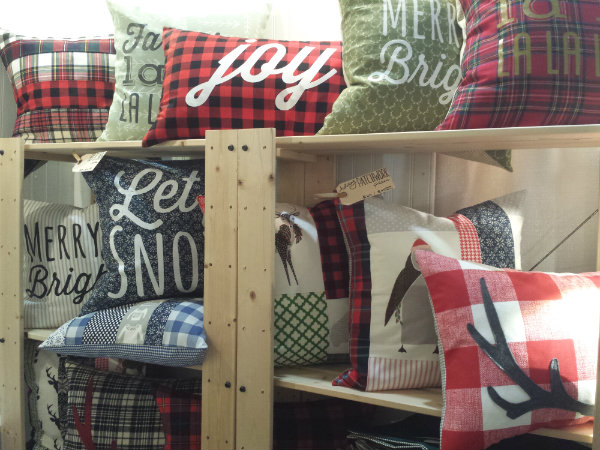 Holiday cushions from HAWT Home at the One of a Kind Christmas Show