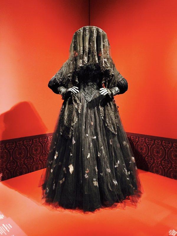 Victoriana costume at Guillermo del Toro exhibit at Art Gallery of Ontario