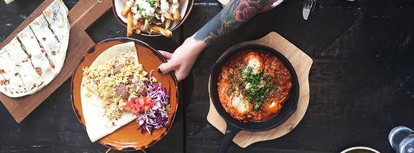 Food at Tabule Restaurant, Toronto