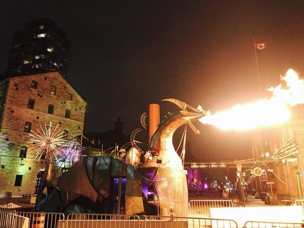 Heavy Meta Dragon at Toronto Light Festival