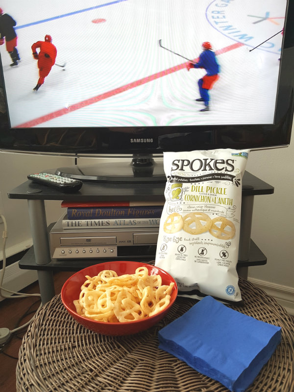 SPOKES Air Puffed Potato Snacks are a healthy snack to enjoy while watching the Winter Olympics