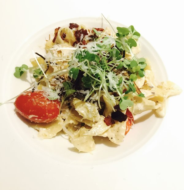 #4 - Lucas Hum's Bacon Carbonara wins at No Yolks Valentine's Speed Dating
