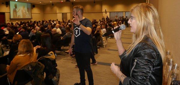 Raymi Lauren speaks to the audience at #TechTO Meetup in Toronto.