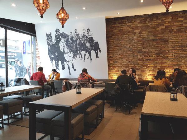 Interior of Naan and Kabob Restaurant at 693 Yonge Street, Toronto