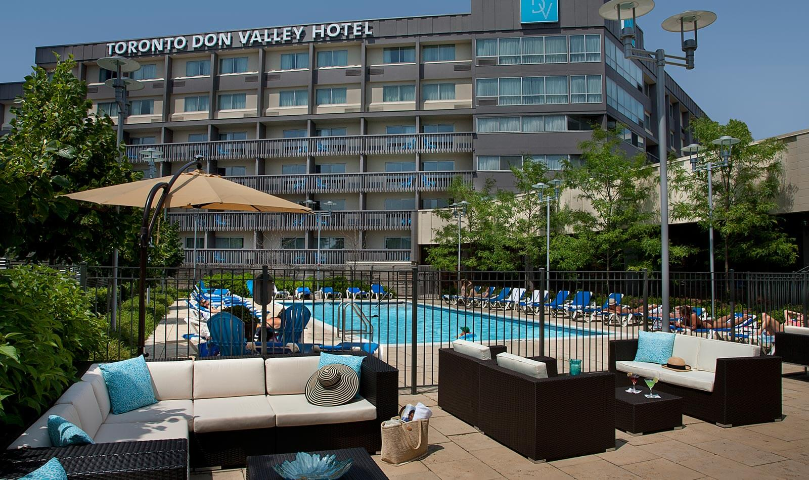 Outdoor pool at Toronto Don Valley Hotel and Suites