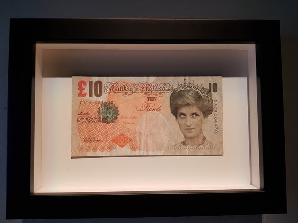 Di Faced Tenners by Banksy at The Art of Banksy in Toronto