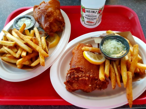 Fish and chips at Coasters Restaurant in Action Zone at Canada's Wonderland