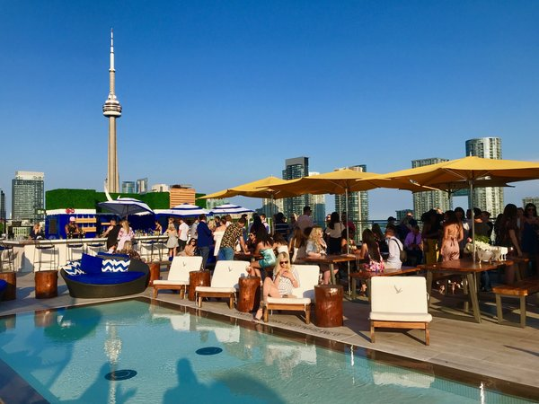 Lavelle Rooftop Bar on King Street West is one of the most instagrammable places in Toronto.