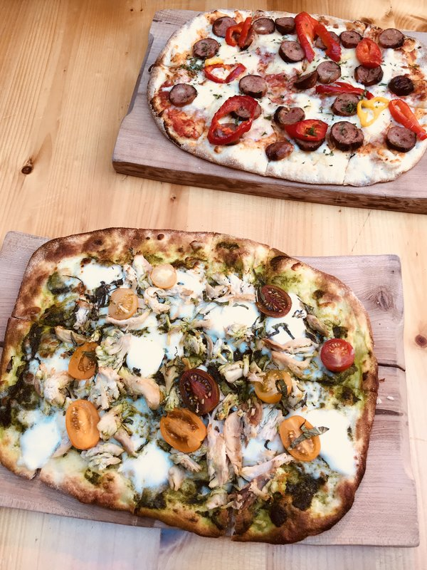 Pizza options at Goose Island Brewhouse