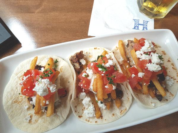 Greek Tacos at Hendriks Restaurant at Toronto Eaton Centre