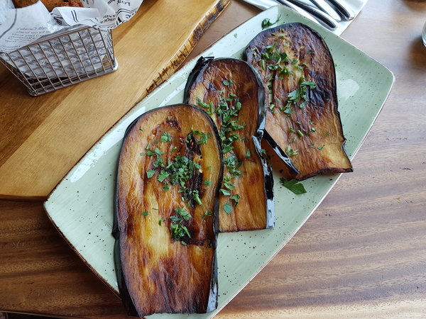 Fried Eggplant at Crowded House on Queen St. E.
