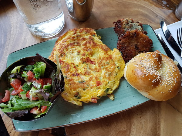 The House Omelette at Crowded House on Queen St. E.