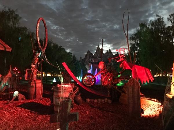 Decor near Wonder Mountain at Halloween Haunt at Canada's Wonderland