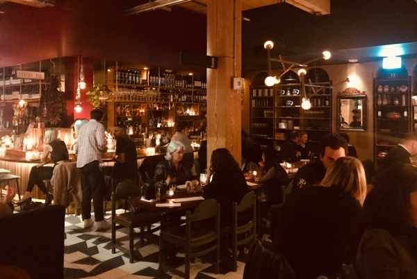 Main space at Labora Restaurant in Toronto